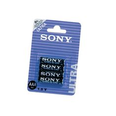 R03/AAA SONY NEW ULTRA 4 UDS Pack de 4 pilas de alta calidad, tamaño R03/AAA de 1,5 V.