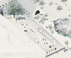 LCLA OFFICE is an Architecture and Landscape studio based in Oslo and Medellin. LCLA office is directed by Luis Callejas and Charlotte Hansson Architecture Graphics, Architecture Drawings, Landscape Architecture, Architecture Design, Landscape Plane, Architecture Diagrams, Architecture Visualization, Axonometric Drawing, Isometric Drawing