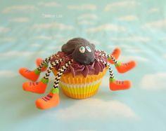 Fake Cupcake Halloween Jumbo Dancing Spider with Sneakers Decor Display Fake Food Prop - Imagine Out Loud