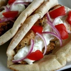 Chicken Gyros - the best dinner I've made in a LONG time.