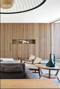 Modern Living Room Wall Design Best Of 25 Gorgeous Wood Wall Decorations for Living Room Living Room Wall Designs, Living Room Decor, Dining Room, Bedroom Decor, Modern Interior Design, Interior Architecture, Timber Feature Wall, Feature Walls, Mid Century Modern Living Room