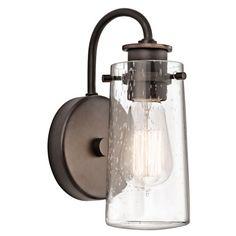Knox Olde Bronze One Light Wall Bracket With Clear Seedy Glass 1 Light Bath Lighting Wall