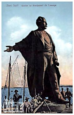 A statue of Ferdinand Marie De Lesseps (1805 - 1894) Erected at Port Said