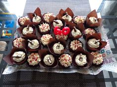 Red velvet 60th birthday cupcakes