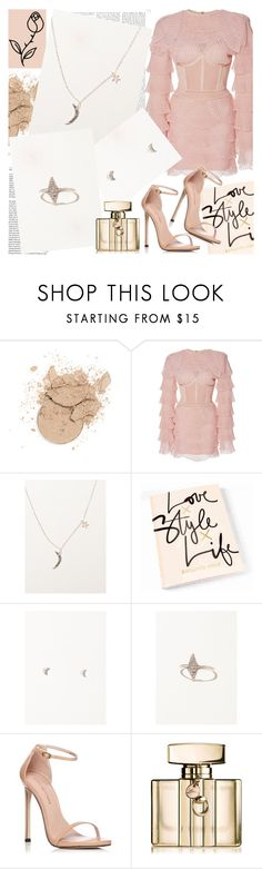 """Valley Rose"" by gaby-mil ❤ liked on Polyvore featuring Balmain, Stuart Weitzman, Gucci and modern"