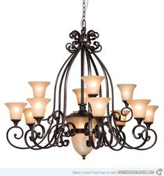 20 wrought iron chandeliers - Wrought Iron Chandelier
