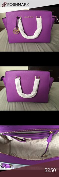 Brand New Large Selma MK Purple Brand New . No trades. Great as a Christmas Michael Kors Bags Shoulder Bags