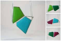 Angelina Jane- Contemporary geometric magnetic silver and resin necklace - customisable with up to 24 different colour/shape combinations Resin Necklace, Resin Jewelry, Arrow Necklace, Color Shapes, Colour, Contemporary Jewellery, Different Colors, Artist, Silver