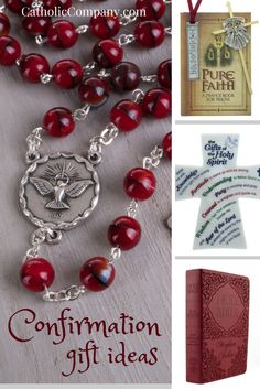 Loads of gift ideas for celebrating the Sacrament of Confirmation. Since this is a Sacrament of the Holy Spirit, where He bestows his seven gifts through the bishop/priest, pray to the Holy Spirit and ask Him to lead you to just the right gift that will be most meaningful for your Confirmant.