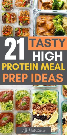 These meal prep healthy recipes are delicious and nutritious. Lose weight while … These meal prep healthy recipes are delicious and nutritious. Lose weight while eating your favorite dishes that happen to be healthy and great for weight loss. Easy High Protein Meals, High Protein Low Carb, High Protein Recipes, Protein Foods, Protein Muffins, Protein Cookies, Lunch Meal Prep, Healthy Meal Prep, Healthy Eating