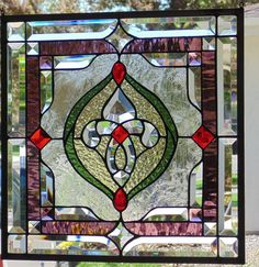 Stained Glass Window Hanging by StevesArtGlass on Etsy
