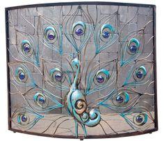 peacock fireplace screen - Google Search | Dream Home | Pinterest ...