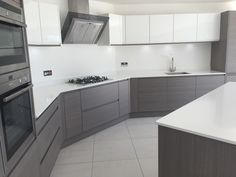 A stylish kitchen in a Penthouse we are selling in Poole. Fine lines and luxury combined. Luxury Kitchen Design, Kitchen Room Design, Best Kitchen Designs, Kitchen Cabinet Design, Kitchen Layout, Home Decor Kitchen, Interior Design Living Room, Home Kitchens, Modern Kitchen Cabinets