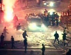 Fuori dallo stadio Massimino successe di tutto, persino che un ispettore di polizia, Filippo Raciti, perdesse la vita. Lo sconforto e l'indignazione