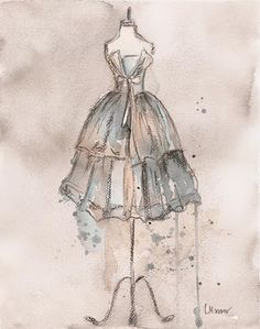 Vintage Dress Paintings: July 2010 | the priviledge to be a womeb