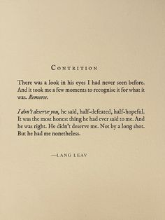 Contrition by Lang Leav