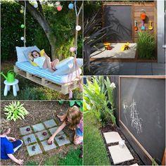 Precious Tips for Outdoor Gardens - Modern Kids Outdoor Spaces, Outdoor Games For Kids, Outdoor Fun, Outdoor Decor, Backyard Play, Backyard For Kids, Backyard Games, Small Space Gardening, Garden Spaces