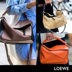 Loewe - Loewe's puzzle bag continues to gain momentum, rendered in colorful hues, sumptuous suede and bold colorblocking.