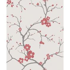 Dulux Blossom - Coral - Wallpaper from Homebase.co.uk