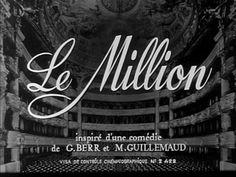 "Screen credits for ""Le Million"""