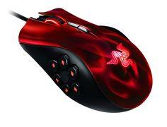 Razer Naga Hex Red USB Wired MOBA/RPG Gaming Mouse 5600 DPI Referbished #Razer