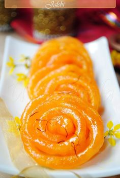 jalebi Sweet maida & grained semolina flour, baking powder, curd, sugar.
