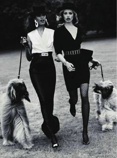 Black & White Chic + the fabulous Afghan Hounds
