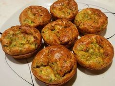 Cukkinifelfújt Quiche Muffins, Vegas, Food Dishes, Baked Potato, Ham, Bacon, Paleo, Food And Drink, Gluten Free