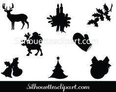 Christmas Celebration - Silhouette Clip Art