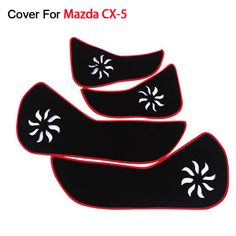 Car Door Protecter Side Edge Protection Pad For Mazda CX-5 2013 2014 2015 Anti-kick Mat For Automobile Free Shipping