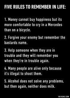 6. Don't be too kind, bad man always win