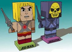 The Masters of the Universe - He-Man and Skeletor Cube Crafts Free Paper Toys Download - http://www.papercraftsquare.com/the-masters-of-the-universe-he-man-and-skeletor-cube-crafts-free-paper-toys-download.html#HeMan, #HeManAndTheMastersOfTheUniverse, #Skeletor, #TheMastersOfTheUniverse