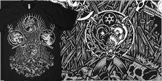 """THRONES- MTG"" t-shirt design by Craig Robson"