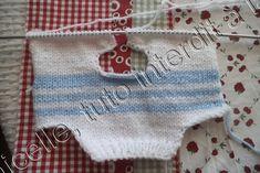 tuto gratuit poupée: pull bicolore tricoté en une seule pièce