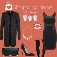 """Für Schnäppchenjägerinnen: In unserem klassischen Outfit """"Sale Sunday"""" ist jedes Stück reduziert.  Kleid: http://shoppingliebe.de/goto/WKiwSJZflG Cardigan: http://shoppingliebe.de/goto/VvVxa0z5Ms Schuhe: http://shoppingliebe.de/goto/rM5V6h6HzR Tasche: http://shoppingliebe.de/goto/43ZhXY1Mkv Kette: http://shoppingliebe.de/goto/E6aZfLtTtG Armband: http://shoppingliebe.de/goto/rBCjsFVZJm Strumpfhose: http://shoppingliebe.de/goto/kVyFnWjUSm Deko: http://shoppingliebe.de/goto/RPHWQsDlid"""