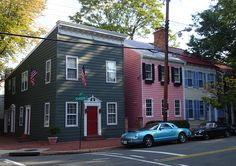 Row Houses in Old Town, Alexandria, VA, this is such a fun and neat place to visit. Houses are very expensive though.