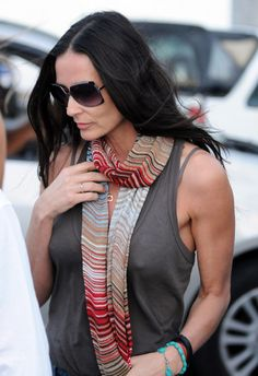 Demi Moore Square Sunglasses - Square Sunglasses Lookbook - StyleBistro