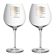 Golden Musical Wine Glasses: Wine and dine in perfect tune!