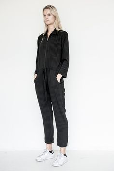 Business Stripe Coverall