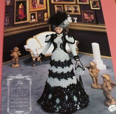 Annies Attic Bed Doll Society Pattern - July 1995 Visiting Costume via Etsy