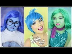 'INSIDE OUT' Makeup Tutorial (Disgust,Sadness,Joy,Anger & Fear) - YouTube