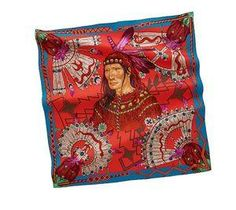Cosmographie Apache, silk scarf by Hermès Paris