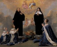 Philippe de Champaigne -  Anna of Austria with her children, praying to the Holy trinity with St-Benedict and his sister St-Scholastica