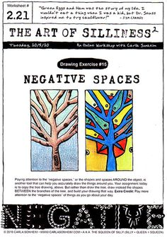 Negative Space Assignment inspiration - great handout to explain methods in negative space