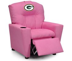Use this Exclusive coupon code: PINFIVE to receive an additional 5% off the Green Bay Packers NFL Kids Pink Microfiber Recliner at SportsFansPlus.com