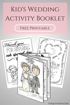 is part of Wedding with kids - Keep your little guests happy and entertained at your upcoming Wedding with this FREE Printable Kid's Wedding Activity Booklet! Wedding Reception Activities, Wedding Games For Guests, Kids Wedding Activities, Wedding Favours, Activities For Kids, Wedding Ceremony, Party Favors, Wedding Invitations, Invitation Envelopes