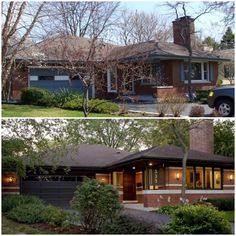 Before & After curb appeal. Pinned for you by Tonyeil Spencer - Spencer Realty LLC - 1-800-349-6702