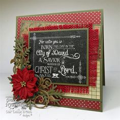 FOR UNTO YOU (CHALKBOARD) - Christmas - Our Daily Bread Designs - Stamps