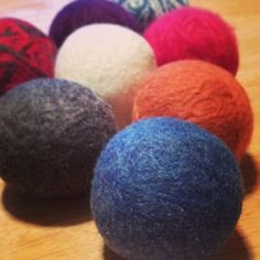 The Mitten Mom's 100% Wool Felted Dryer Balls are felted using dye-free and fragrance-free detergent. The dryer balls are triple-felted, which helps reduce pilling and increase longevity.   Felted Dryer Balls: * Reduce drying time * Soften clothes naturally, without harsh chemicals * Are safe for all clothes, towels and cloth diapers