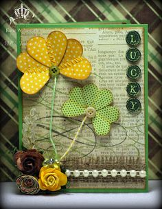 Great card.  Love the clover.